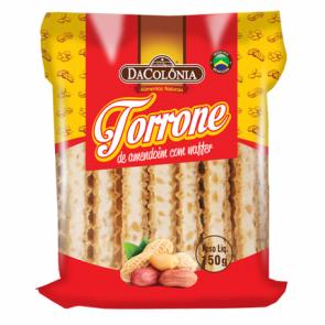 Torrone de Amendoim com Waffer Da Colônia 150g