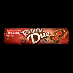 Biscoito Tortinhas Due Trufa/Geleia de Morango Isabela160g