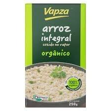 Vapza Arroz Integral Orgânico Cozido no Vapor 250g