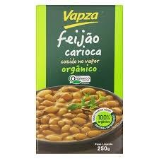 Vapza Feijão Carioca Orgânico Cozido no Vapor 250g