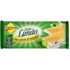 Wafer Limão Zero Lowcucar 115g