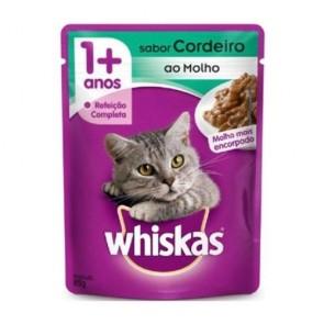 Alimento Para Gatos Whiskas Sachê Sabor Cordeiro 85g