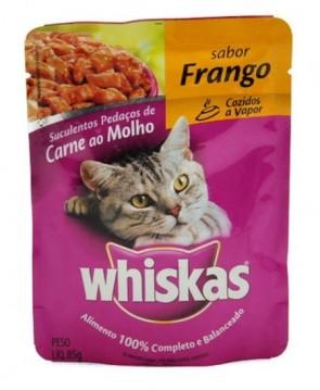 Alimento Para Gatos Whiskas Sachê Sabor Frango 85g