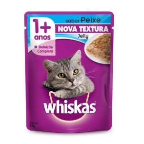 Alimento Para Gatos Whiskas Sachê Sabor Peixe 85g