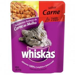 Alimento Para Gatos Whiskas Sachê Sabor Carne 85g