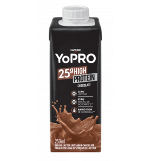 Bebida Láctea Danone Yopro Chocolate Zero Lactose 25g High Protein 250ml